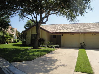 Fort Pierce Single Family Home For Sale: 4176 Gator Trace Villas Circle #A