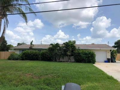 Fort Pierce Single Family Home For Sale: 1502 E Easy Street