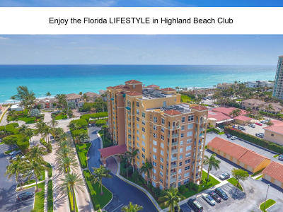 Highland Beach Condo For Sale: 3594 S Ocean Boulevard #606