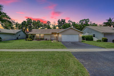 Boca Raton FL Single Family Home For Sale: $349,900