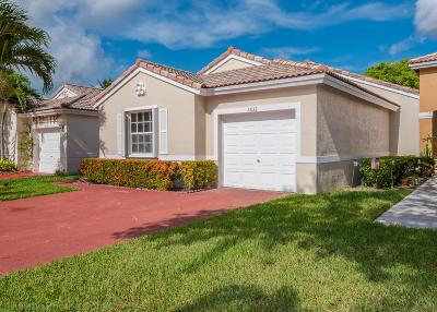 Coconut Creek Single Family Home For Sale: 3632 Coco Lake Drive