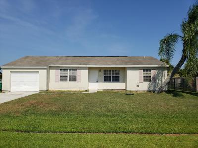 Port Saint Lucie Single Family Home For Sale: 2401 SE West Blackwell Drive