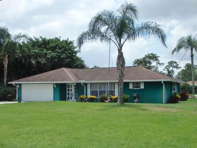 Hobe Sound Single Family Home For Sale: 8712 SE Duncan Street