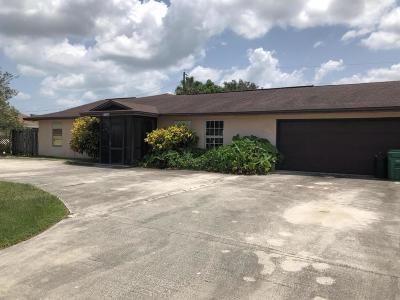 Fort Pierce Single Family Home For Sale: 185 SE Soneto Court
