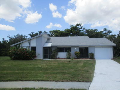 Delray Beach Single Family Home For Sale: 14807 Hideaway Lake Lane