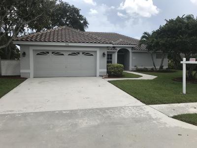 Boynton Beach Single Family Home For Sale: 5748 Descartes Circle