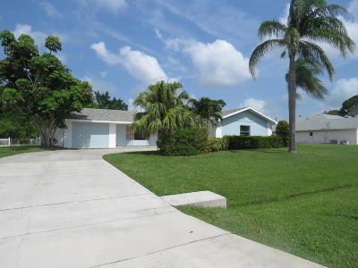 Port Saint Lucie Single Family Home For Sale: 2162 SE Harding Street