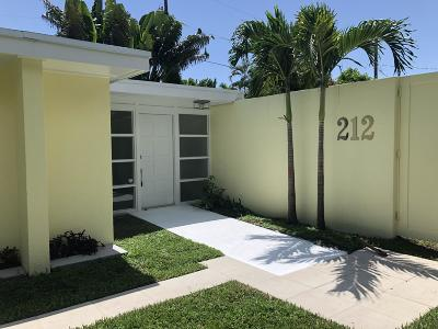West Palm Beach Single Family Home For Sale: 212 Rugby Road