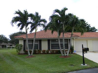 Boynton Beach Single Family Home For Sale: 4490 Nutmeg Tree Lane #A