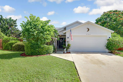 Jupiter Single Family Home For Sale: 204 Greentree Court