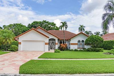Boca Raton Single Family Home For Sale: 20027 Back Nine Drive