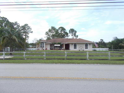 Loxahatchee Single Family Home For Sale: 18315 Sycamore Drive W