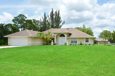 West Palm Beach Single Family Home Contingent: 13303 61st St N Street