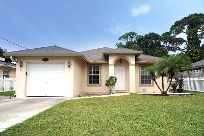 Jupiter Single Family Home For Sale: 6718 2nd Street