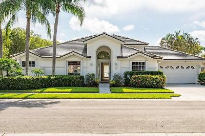 Palm Beach Gardens Single Family Home For Sale: 347 Eagleton Golf Drive