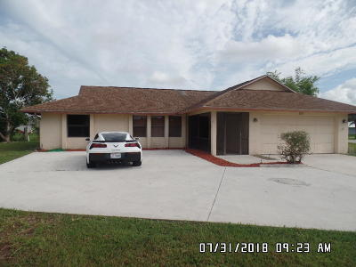 Port Saint Lucie FL Single Family Home Contingent: $227,900