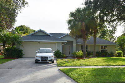 Port Saint Lucie Single Family Home For Sale: 316 SW Panther Trace