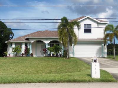 Port Saint Lucie Single Family Home For Sale: 458 SW Tulip Boulevard