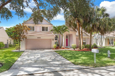 Delray Beach Single Family Home Contingent: 3838 Satin Leaf Court