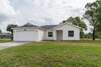 Loxahatchee Single Family Home For Sale: 18888 43rd Road