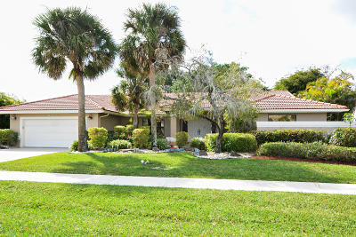 Boca Raton Single Family Home For Sale: 10796 Boca Woods Lane Lane