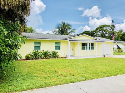 Jupiter Single Family Home For Sale: 212 Loxahatchee Drive