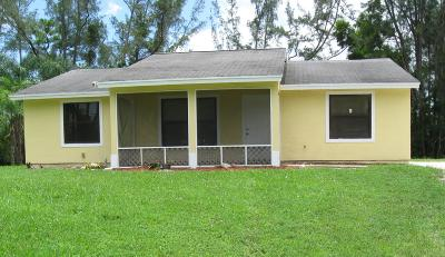 Loxahatchee Single Family Home For Sale: 13048 57th Place