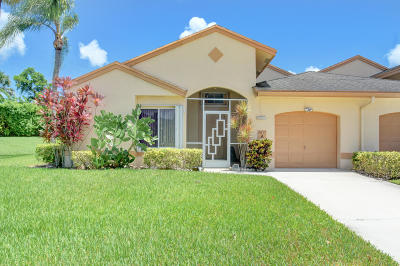Boca Raton Single Family Home For Sale: 9817 Boca Gardens Circle #A