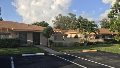 Delray Beach Single Family Home For Sale: 5620 Queen Palm Court #C - 55