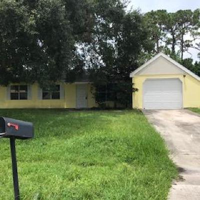 Port Saint Lucie Single Family Home For Sale: 350 SW Cherry Hill Road