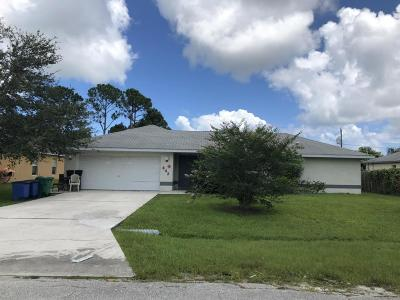 Port Saint Lucie FL Single Family Home For Sale: $249,900