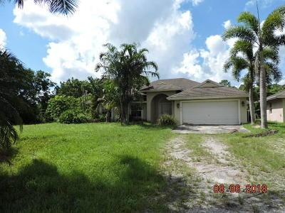Loxahatchee Single Family Home For Sale: 17434 Valencia Boulevard