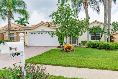 Boynton Beach Single Family Home For Sale: 6840 Ashton Street