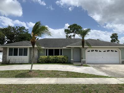 Royal Palm Beach Single Family Home Contingent: 106 Hemingway Court