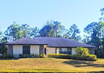 Jupiter Single Family Home For Sale: 10152 Sandy Run