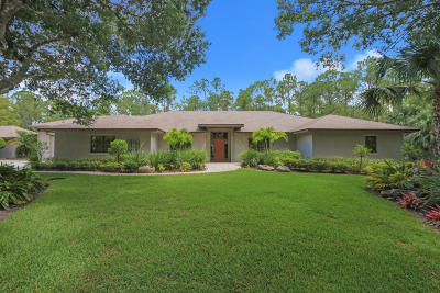 Jupiter Single Family Home For Sale: 9667 Quail Trail