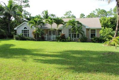 Loxahatchee Single Family Home For Sale: 17569 81st Lane