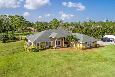 Loxahatchee Single Family Home For Sale: 17770 Murcott Boulevard