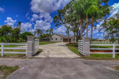 Loxahatchee Single Family Home For Sale: 17546 Prado Boulevard