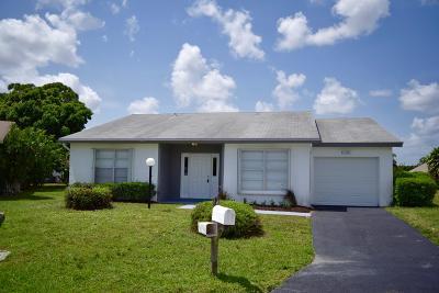 Lake Worth Single Family Home Contingent: 4195 Pine Green Run