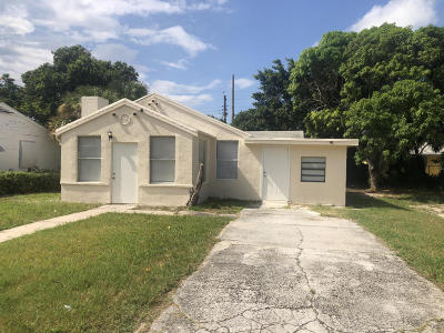 West Palm Beach Single Family Home For Sale: 629 56th Street