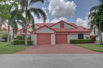 Delray Beach Single Family Home For Sale: 7628 Lexington Club Boulevard #A