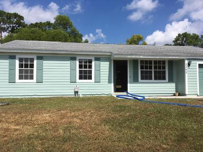 Port Saint Lucie Single Family Home Contingent: 2268 SE Merrill Road