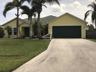 Port Saint Lucie Single Family Home For Sale: 524 SE Ocean Spray Terrace