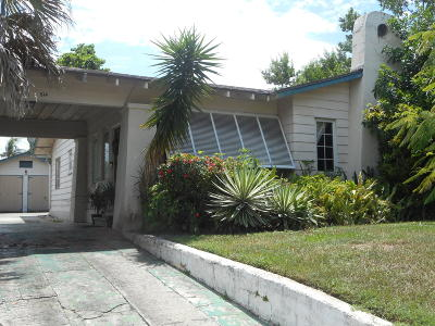 West Palm Beach Single Family Home For Sale: 814 Biscayne Drive