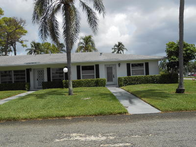 Delray Beach Single Family Home For Sale: 2381 Sumac Court #79-D