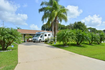Port Saint Lucie Single Family Home For Sale: 2031 SW Akorot Road