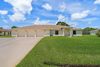 Port Saint Lucie Single Family Home For Sale: 3516 SW Macon Road