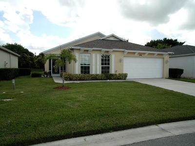 Port Saint Lucie Single Family Home For Sale: 346 SW North Shore Boulevard