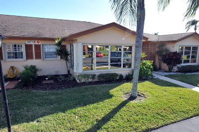 Delray Beach Single Family Home For Sale: 14716 Canalview Drive #C